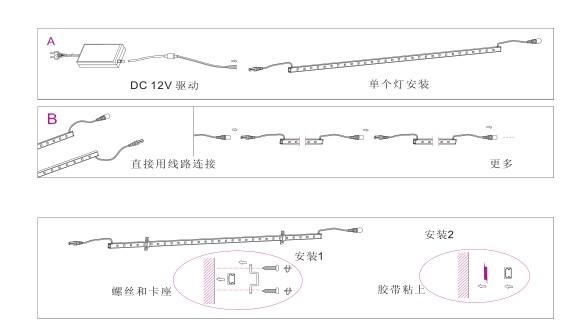 led线条灯安装接线图